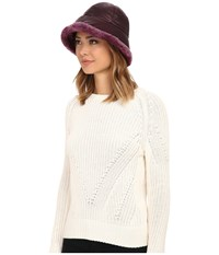 Ugg Lorien Cloche With Shearling Trim 14 Aster Multi Traditional Hats Red