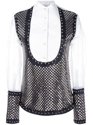 J.W.Anderson Studded Panel Shirt White