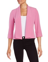 Nipon Boutique Open Front Knit Jacket Petunia