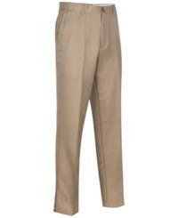 Greg Norman For Tasso Elba Big And Tall 5 Iron Flat Front Golf Pants Washed Khaki