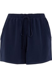 Chloe Silk Cady Shorts Navy