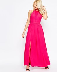 Girls On Film Maxi Dress With Lace Insert Pink