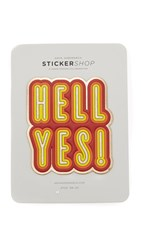 Anya Hindmarch Oversized Hell Yes Sticker Pale Gold Metallic
