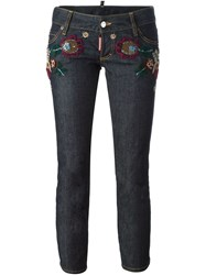 Dsquared2 'Sexy Cropped Boot Cut' Jeans Blue