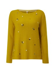 White Stuff Mineral Spot Jumper Yellow