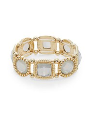 Saks Fifth Avenue Stone Link Bracelet White