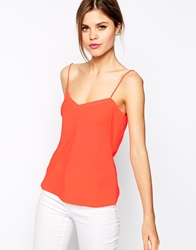 Ted Baker Cami Top With Scallop Edge Detail Orange
