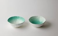 Aqua Fade Bowl Set By Upintheairsomewhere On Etsy