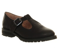 Office Keyhole Round Toe Flat Buckle Shoes Black Suede