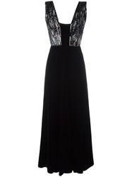 Giorgio Armani Sequined V Neck Dress Black