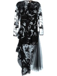 N 21 N.21 Embroidered Tulle Evening Dress Black