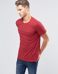 United Colors Of Benetton Button Pocket T Shirt With Coloured Fleck Red 21C