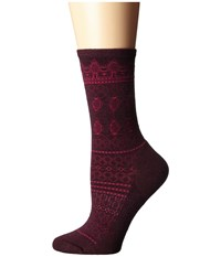Smartwool Lacet Crew Aubergine Heather Women's Crew Cut Socks Shoes Brown