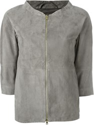 Herno Zip Up Jacket Grey
