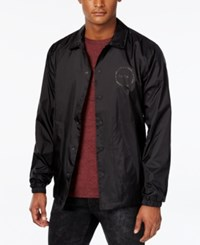 Tavik Men's Lightweight Graphic Print Crew Jacket Black