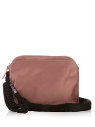 The Row Tassel Silk Satin Wristlet Clutch Pink