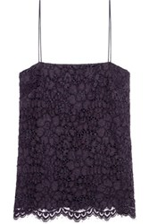Iris And Ink Camila Guipure Lace Top Purple