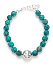 Nest Turquoise Jasper Beaded Statement Necklace