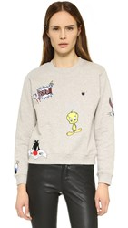 Paul And Joe Sister Looney Tunes So Funny Sweatshirt Grey