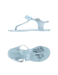Schumacher Footwear Thong Sandals Women Sky Blue