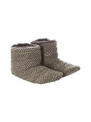 White Stuff Knitted Bootie Grey