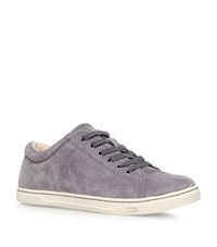 Ugg Australia Tomi Suede Lace Up Trainers Female Metallic