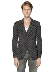 Dolce And Gabbana Martini Stretch Wool Vest And Jacket Grey Black
