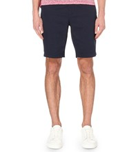 Michael Kors Polka Dot Print Cotton Shorts Midnight