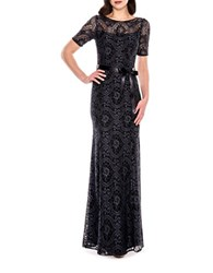 Decode 1.8 Floral Lace Gown Pewter Black