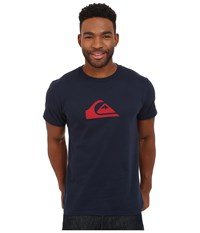 Quiksilver Everyday Mountain Wave Tee Navy Blazer Men's Short Sleeve Pullover