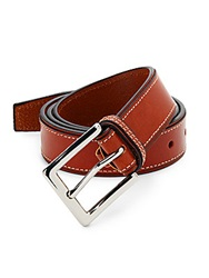 Cole Haan 30Mm Contrast Stitched Leather Belt British Tan