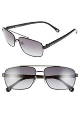 Men's Jack Spade 'Garrett' 59Mm Navigator Sunglasses Black Grey Gradient