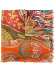 Pierre Louis Mascia Woven Printed Scarf Multicolour