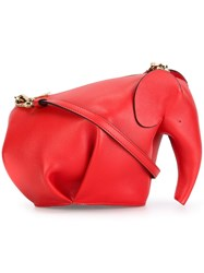 Loewe Elephant Shaped Mini Bag Red