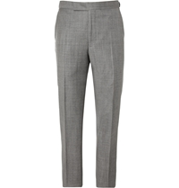 Richard James Relaxed Fit Wool Suit Trousers Gray