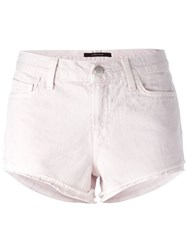 J Brand Cut Off Denim Shorts Pink And Purple