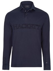 Hackett London Garment Dye Rugby Shirt Navy
