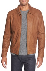 Missani Le Collezioni Lambskin Leather Jacket Saddle