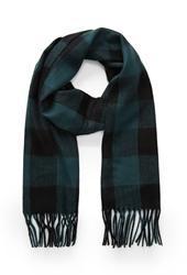 Forever 21 Check Plaid Fringe Scarf