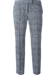 Akris Stretch Cropped Trousers Blue