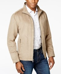 Weatherproof Men's Micro Perforated Stand Collar Jacket Sand