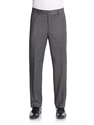 Saks Fifth Avenue Wool And Cashmere Trousers Grey