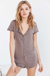 Out From Under Boyfriend Tee Romper Stone