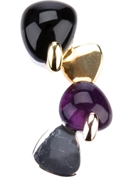 Uzerai Edits Amethyst And Onyx Pendant Multicolour