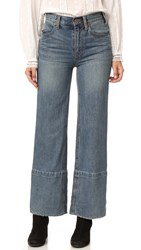 Free People Hopkin Hi Rise Wide Leg Jeans Denim Blue