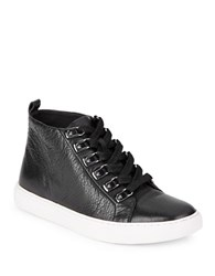 Kenneth Cole Kale Leather Hi Top Sneakers Black