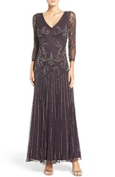Pisarro Nights Women's Embellished Mesh Drop Waist Dress