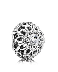 Pandora Design Pandora Charm Sterling Silver And Cubic Zirconia Floral Brilliance Moments Collection Silver Clear