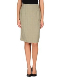 Cantarelli Knee Length Skirts Military Green