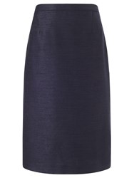 Eastex Shantung Pencil Skirt Navy